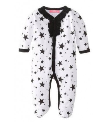 Long sleeves stars romper for babies 100% cotton