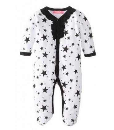Mono manga larga 100% algodón estrellas