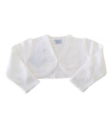 Gilet blanche tricotée petite fille FOQUE