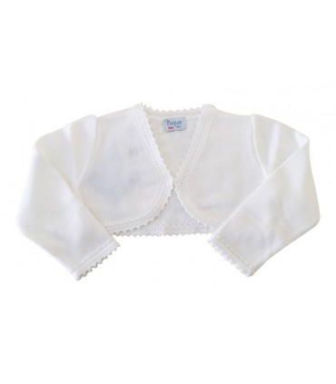 White cardigan for girls FOQUE