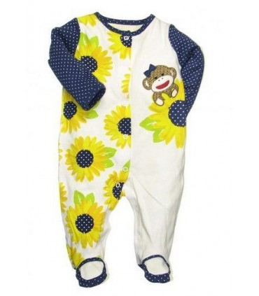 Baby girl Sunflower romper