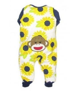 Mono niña manga larga estampado de girasoles