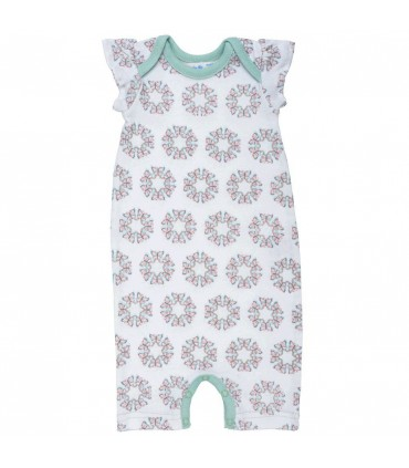 Sleeveless romper for toddlers and babies 100% organic cotton Under The Nile