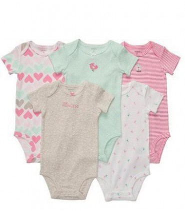 Baby Girls 5 Pack Bodysuits