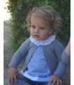 Vestido faldón azul plomo de niña de ANCAR