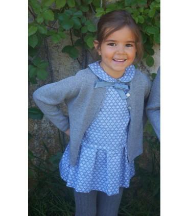 Vestido niña azul plomo de ANCAR