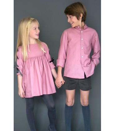 Vestido niña rosa Marita de NUECES KIDS