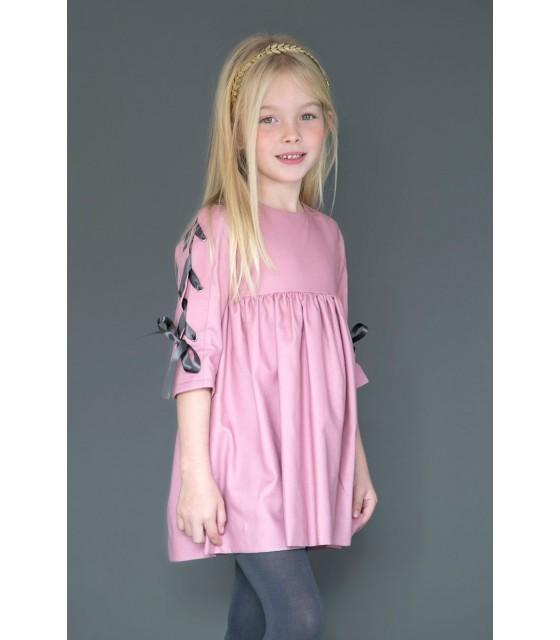 a6e7941d84 Vestido niña rosa Marita de NUECES KIDS ...