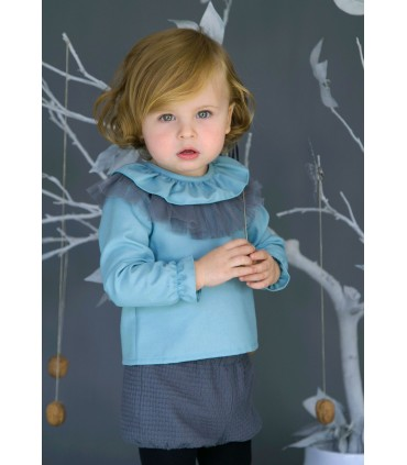 Baby Outfit NUECES KIDS Grey And Green
