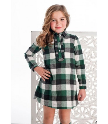 COCOTE green checked girl dress