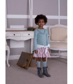 CESAR BLANCO knitted girl dress MINT