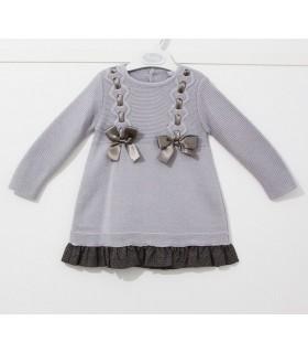 Robe mauve tricotée petite fille Rochy