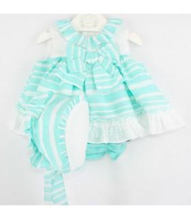 """MARTA Y PAULA Little dress with bonnett baby girl """"MANGO"""""""
