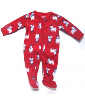 Xmas red pajamas for babies