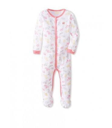 100% cotton baby girls pink pajamas Coccoli