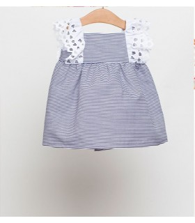 FINA EJERIQUE BABY GIRL BLUE STRIPES DRESS