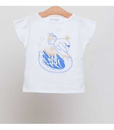 FINA EJERIQUE GIRLS BLUE PRINT T-SHIRT