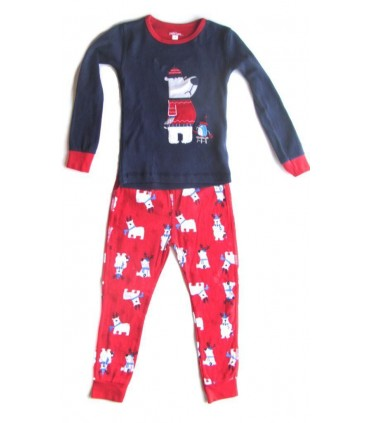 Xmas red and blue pajamas for kids
