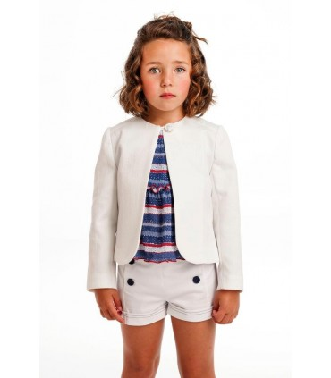 JOSE VARON GIRL WHITE JACKET