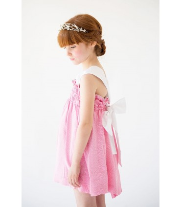 "NUECES KIDS GIRLS PINK DRESS ""CARLOTA"""