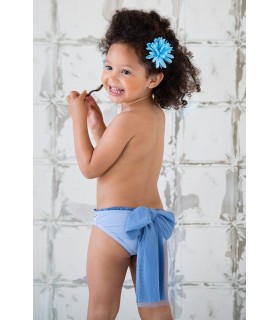 NUECES KIDS GIRLS BLUE CULOTTE