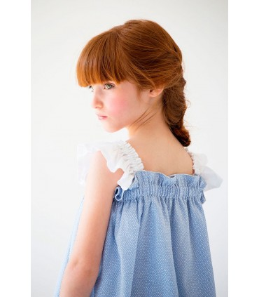 "NUECES KIDS GIRLS BLUE DRESS ""CATALINA"""