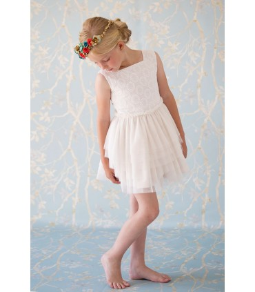 NUECES KIDS GIRLS STARS DRESS