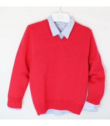 MARTA y PAULA boy red sweater