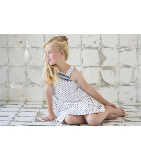 NUECES KIDS GIRLS BLACK STARS DRESS
