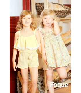 FOQUE GIRLS YELLOW ROMPER