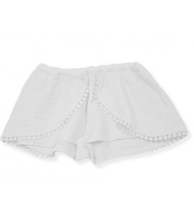 FOQUE GIRLS GIRLS WHITE SKIRT-SHORTS