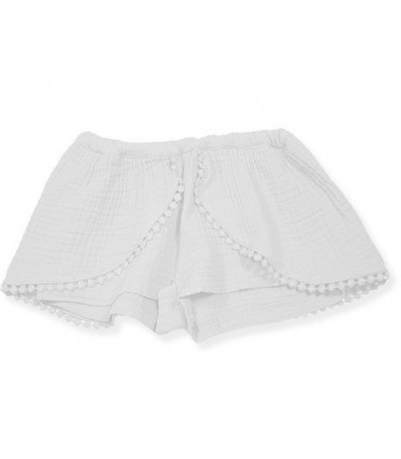 FALDA PANTALON BAMBULA COLOR BLANCO NIÑA FOQUE