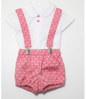 "MARTA y PAULA baby boy 3 pieces red outfit ""ANCHORAGE"""