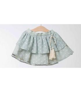 Fina Ejerique Girl Flowered green Skirt