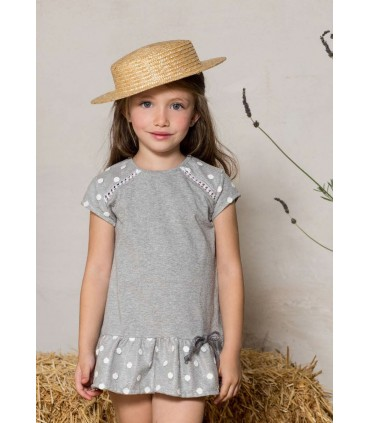 PILAR BATANERO GIRL GREY DRESS