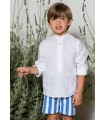 PILAR BATANERO LIGHT BLUE STRIPES BOY SET