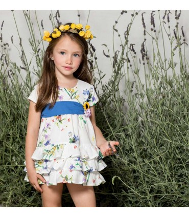 "PILAR BATANERO LITTLE GIRL DRESS ""SPRING"""