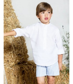 PILAR BATANERO BLUE STRIPES BOY SET