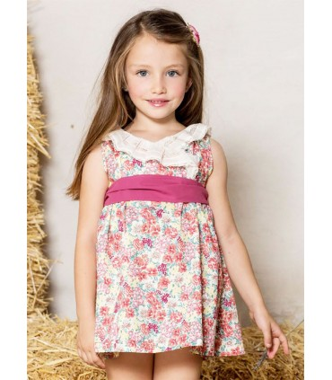 "PILAR BATANERO LITTLE GIRL DRESS ""ROSETONES"""