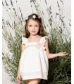 PILAR BATANERO GOLDEN STRIPES LITTLE GIRL DRESS