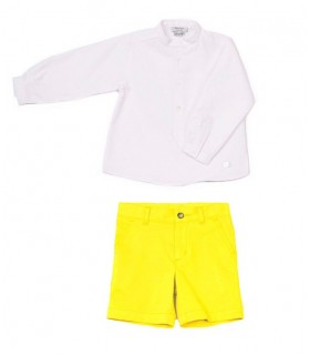 JOSE VARON WHITE AND YELLOW BOY SET