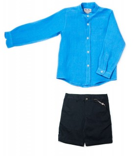 JOSE VARON NAVY BLUE BOY SET