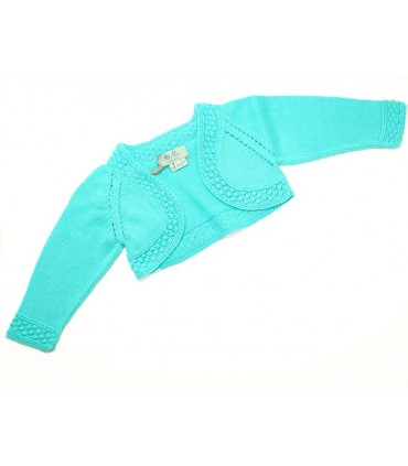 Jose Varon Baby girl green cardigan