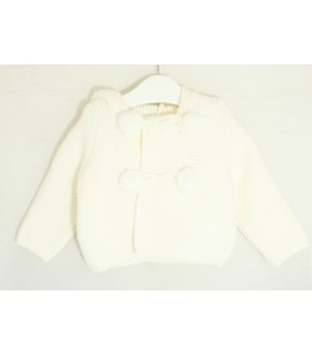 Baby hoodie jacket Cream colour MARTA Y PAULA