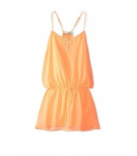 Orange Sleeveless dress for girls
