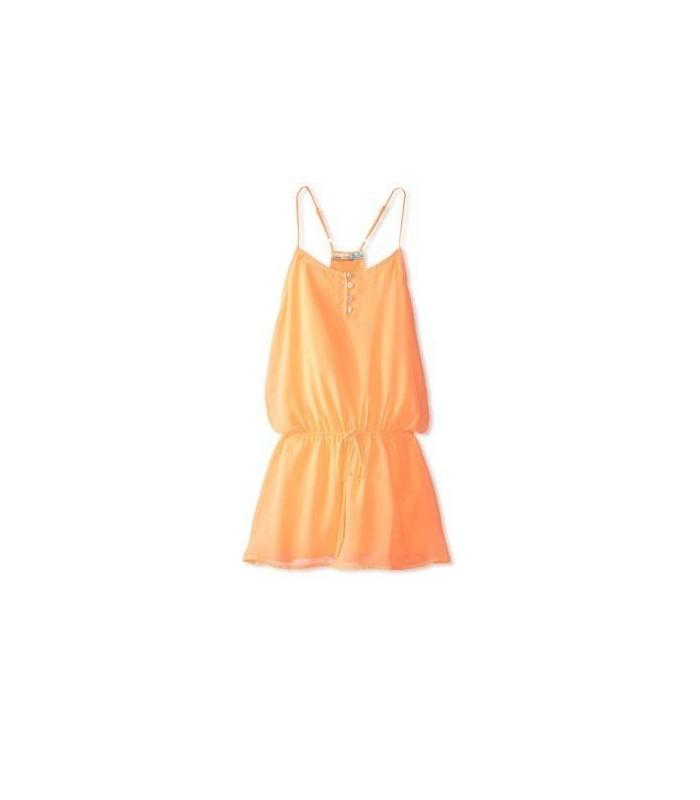 Vestido naranja niña tirantes