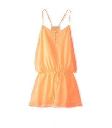 Robe petite fille orange