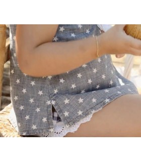 JEANS GIRL BLOUSE with STARS FOGUE