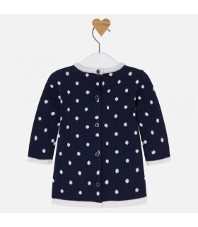 MAYORAL NAVY BLUE KNITTED DRESS
