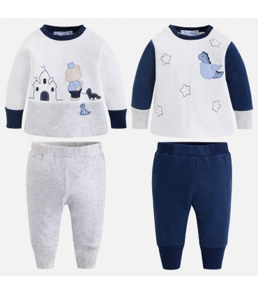 MAYORAL BABY BOY 4 PIECES NAVY BLUE SET